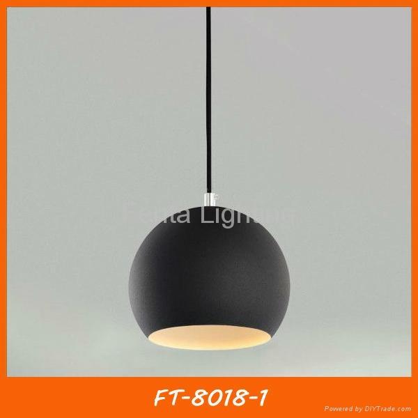 Black iron ball pendant light/lamp 1