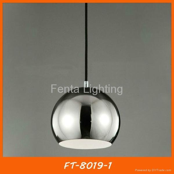 Black iron ball pendant light/lamp 2