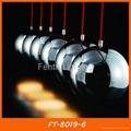 Black iron ball pendant light/lamp 4