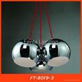Black iron ball pendant light/lamp 3