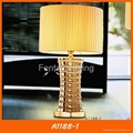 Modern gold ceramic table lamp for hotel