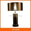 Modern gold ceramic table lamp for hotel 5
