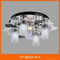 Modern crystal LED ceiling lamp/light with remote