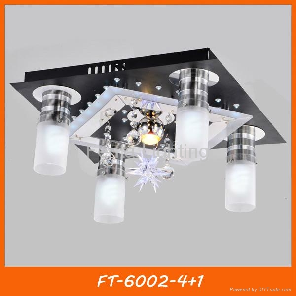 Modern crystal LED ceiling lamp/light with remote 2