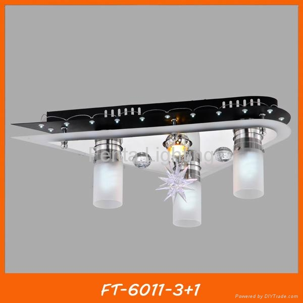 Modern crystal LED ceiling lamp/light with remote 3