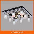 Modern crystal LED ceiling lamp/light with remote 4