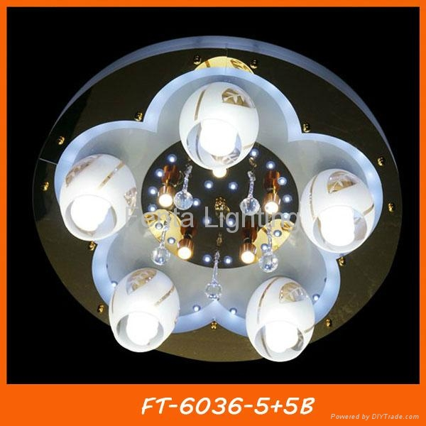 Modern crystal LED ceiling lamp/light with remote 5