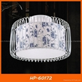 Modern fabric ceiling lamp two- tier shade 1