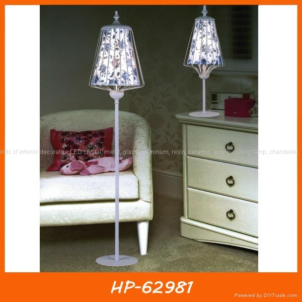 Modern fabric ceiling lamp two- tier shade 4