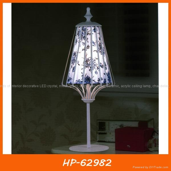 Modern fabric ceiling lamp two- tier shade 5