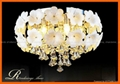 Flower crystal LED ceiling pendant lamp