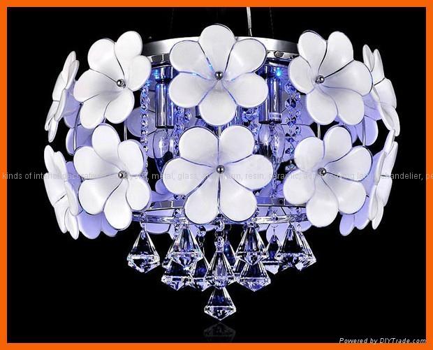 Flower crystal LED ceiling pendant lamp 2