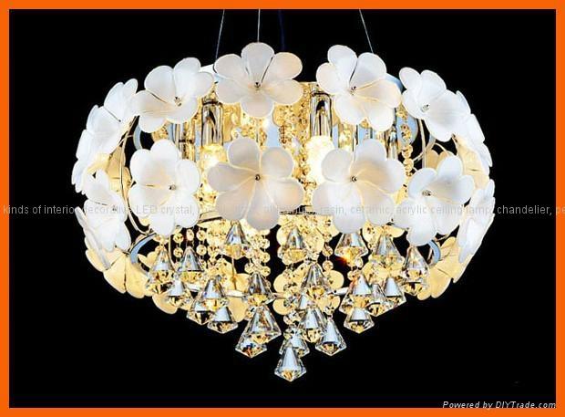 Flower crystal LED ceiling pendant lamp 4