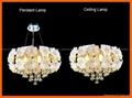 Flower crystal LED ceiling pendant lamp 5