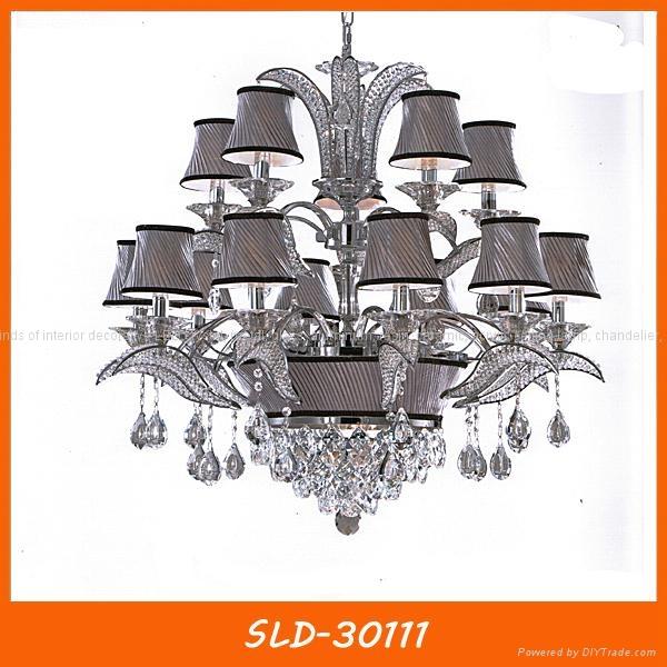 Hotel engineering candle crystal chandelier pendant lamp 4