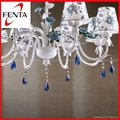 Beautiful fabric chandelier with ceramic rose  3