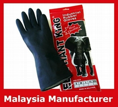 Elephant King Black Industrial Rubber Gloves / Industrial Gloves
