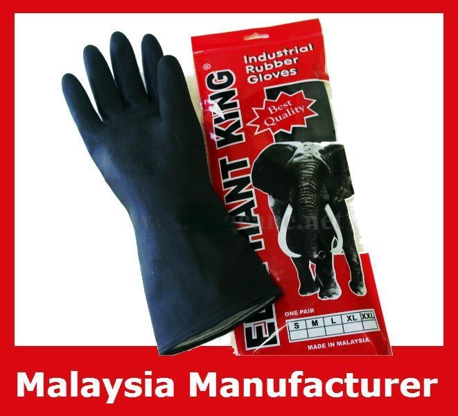 Elephant King Black Industrial Rubber Gloves / Industrial Gloves 1
