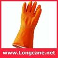 Orange Industrial Rubber Glove / Orange