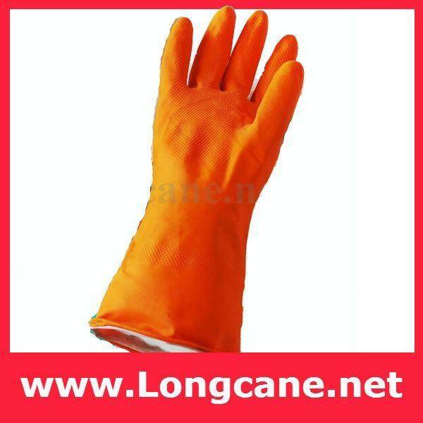 Orange Industrial Rubber Glove / Orange Gloves 1