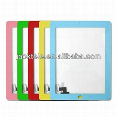 Good Quality For iPad 2 Colorful Digitizer Screen Replacement Glass Panel