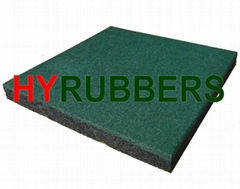 500*500mm Square rubber tiles for playground