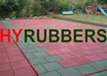 300*300mm Square rubber tiles for