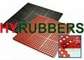 915mm x 915mm x 12mm  rubber mat
