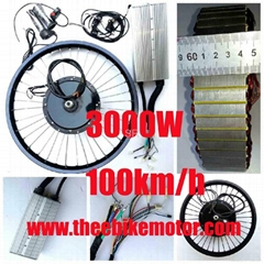3000W electric motorcycle bike conversion kit e bike kit