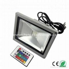 led flood light/lamp Bridgelux RGB 10w 20w 30w 50w 80w CE ROSH 85-265V AC 120°
