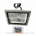 led flood light/lamp Bridgelux RGB 10w 20w 30w 50w 80w CE ROSH 85-265V AC 120° 2