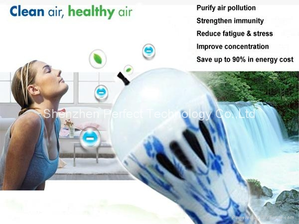 New Design LED Anion Air Purifying bulb Light/Lamp Absorb Smoke and Dust 1