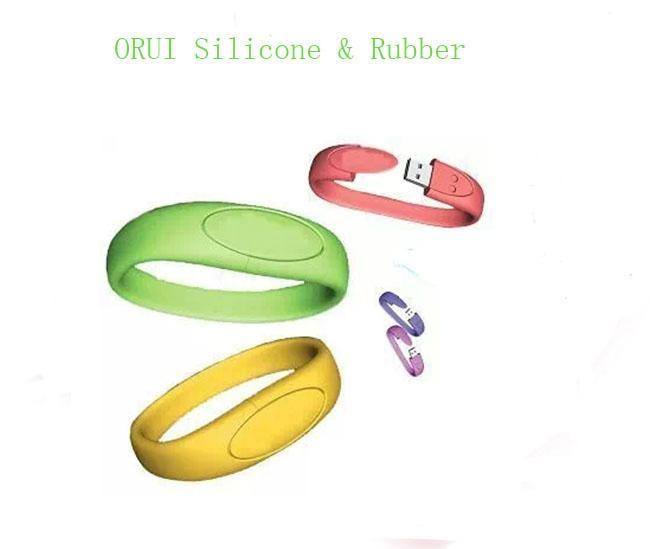 High-end Silicone USB Bracelet  4