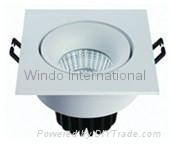 1507 7W 690lm LED square celling spot light COB