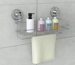 Suction bathroom rack