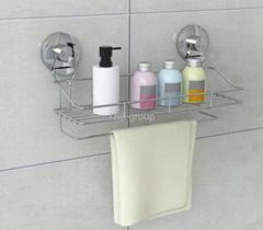 Suction bathroom rack