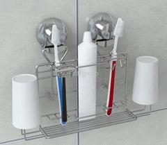 Sution toiletries rack