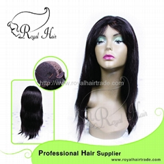 100% Virgin Humanstraight glueless full lace wig