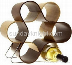 Acrylic wine bottle display racks