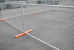 Chain Link Temporary Fencing for Boundary Delineation