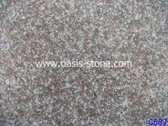 桃花红 花岗岩大板 G687