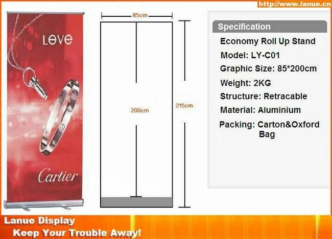 High quanlit economic aluminum roll up banner 1