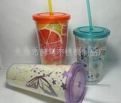塑料吸管杯