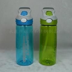 650ML塑料吸管运动水壶