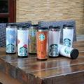 星巴克外塑内钢双层咖啡杯DLY