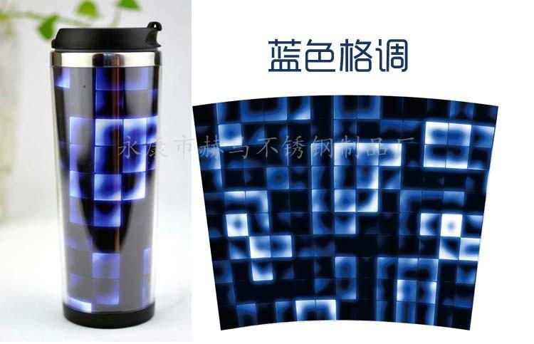星巴克外塑内钢双层咖啡杯DLY定制随手杯 5