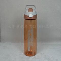 新款750ML大容量運動水壺便攜帶蓋吸管水杯