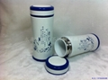 新款青花双层陶瓷保温杯