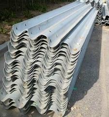 Hot dip galvanized highway guardrail