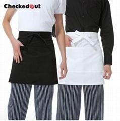 黑色短款廚師圍裙